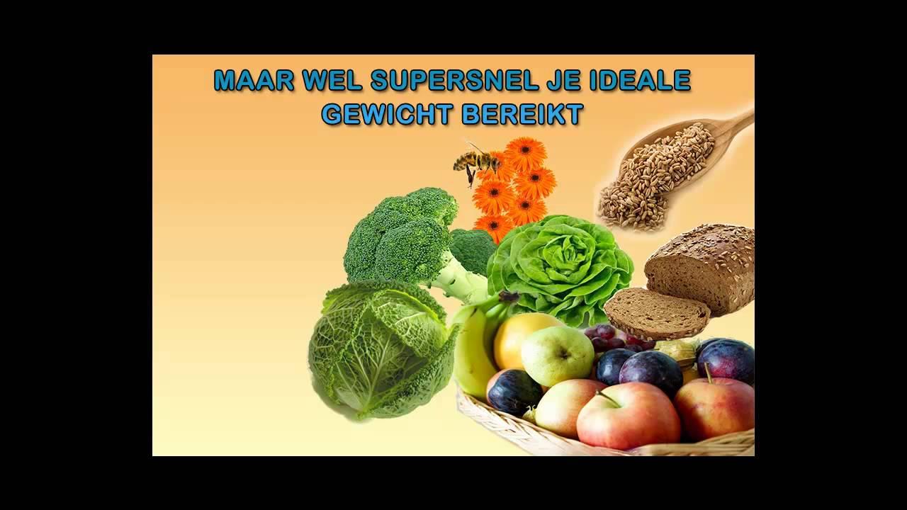 gezond dieet snel afvallen
